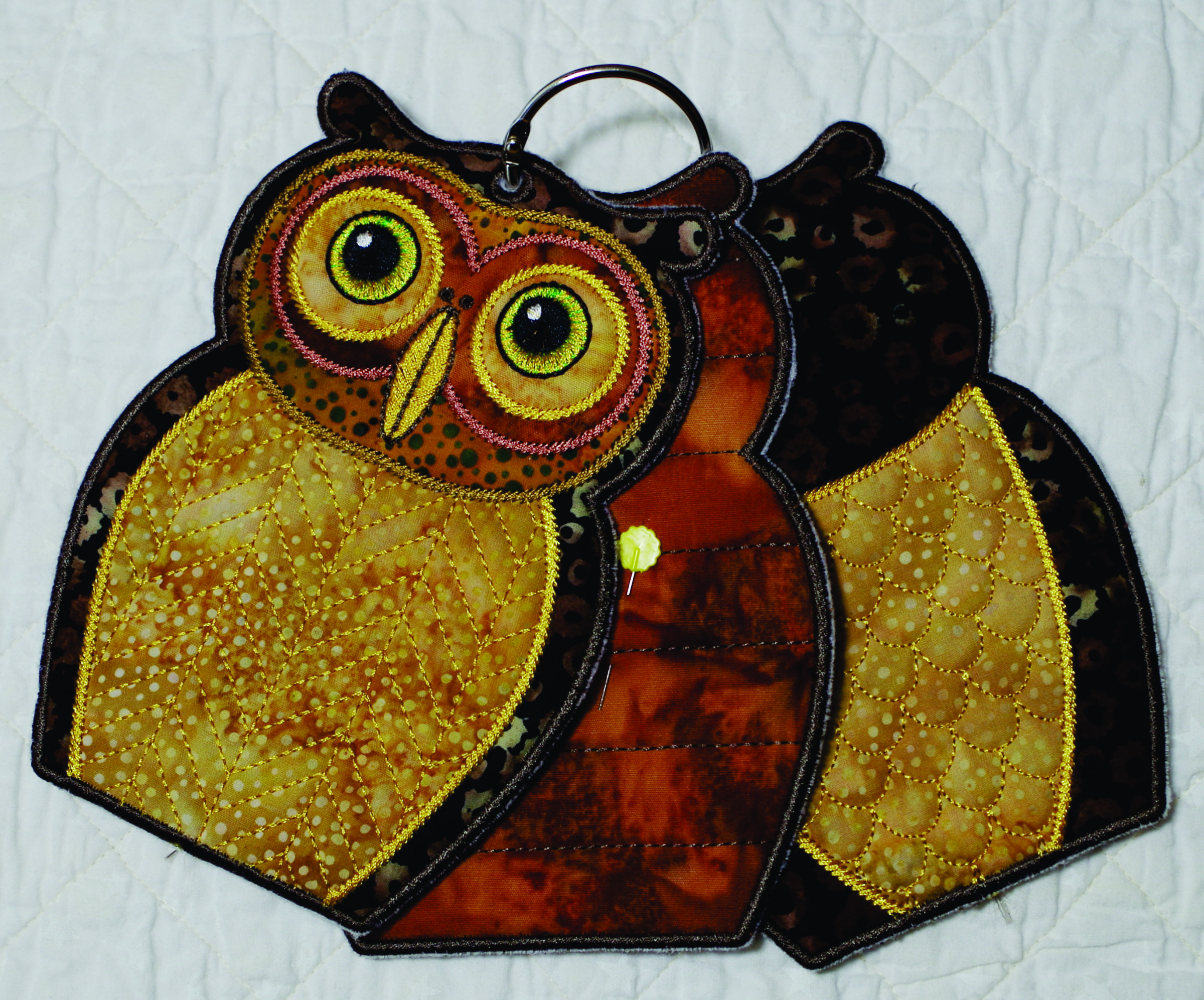 Owl Needle Keeper Embroidery Design