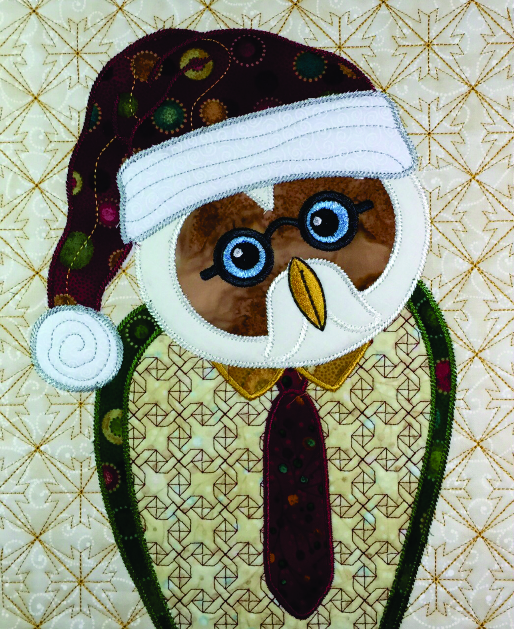 Santa Owls Annas Awesome Applique Designs